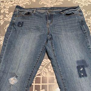 Loft Modern Skinny Stylish Jeans Size 14